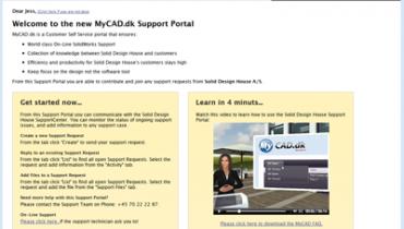 Opdatering af Support Portal