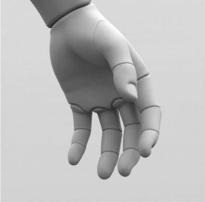 Model af menneskehånd