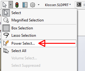 Sortering med PowerSelect
