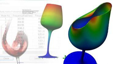 SOLIDWORKS Simulation: Hvor høj frekvens skal der til for at ødelægge et vinglas?
