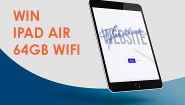 Giv feedback på vores hjemmeside og vind en iPad